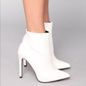 Fashion Nova Shoes - Fashion Nova White Booties